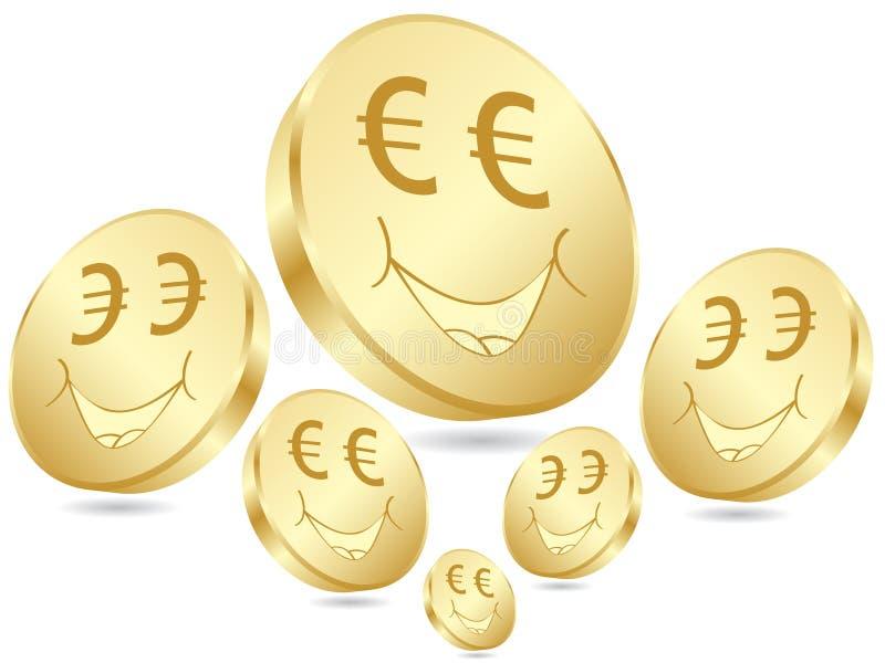 coins euroaffischen royaltyfri illustrationer