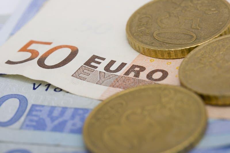 coins euroanmärkningar arkivfoto