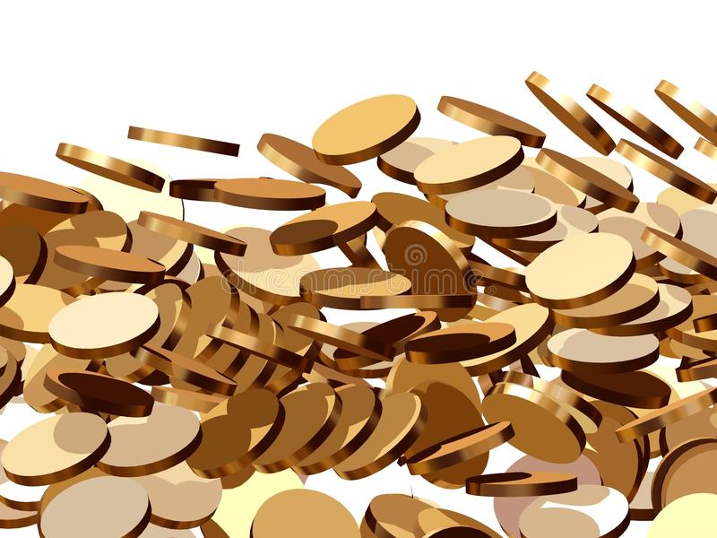 Coins fall stock illustration