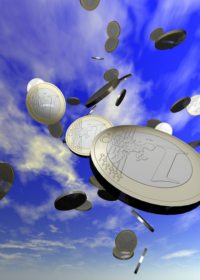 Free Coins Falling Royalty Free Stock Photography - 205857