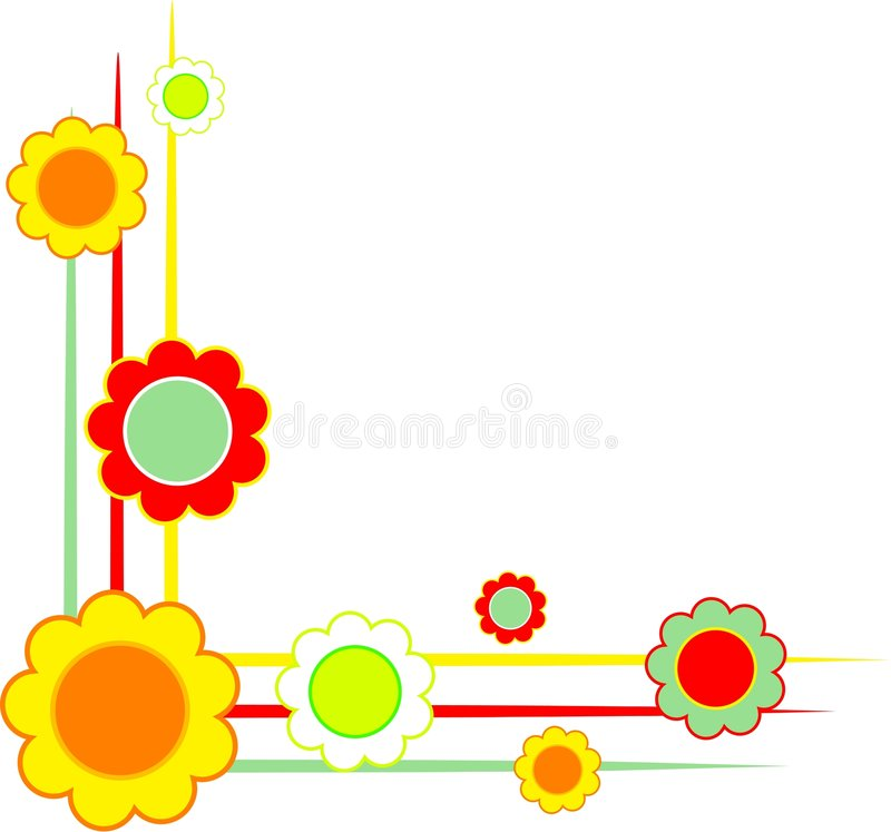 Coins floraux illustration stock