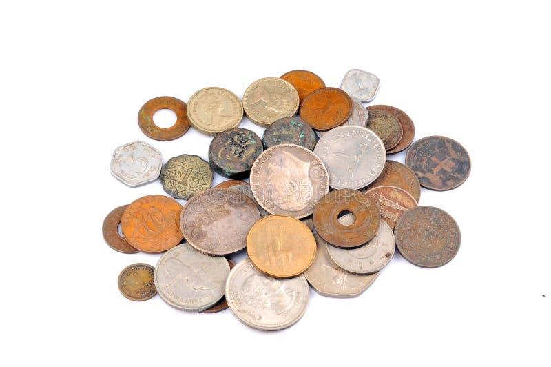 coins gammal tappning arkivbild