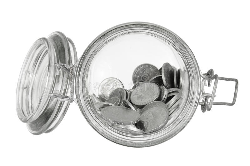 Download Coins in Glass Jar stock photo. Image of finance, storage - 36382618