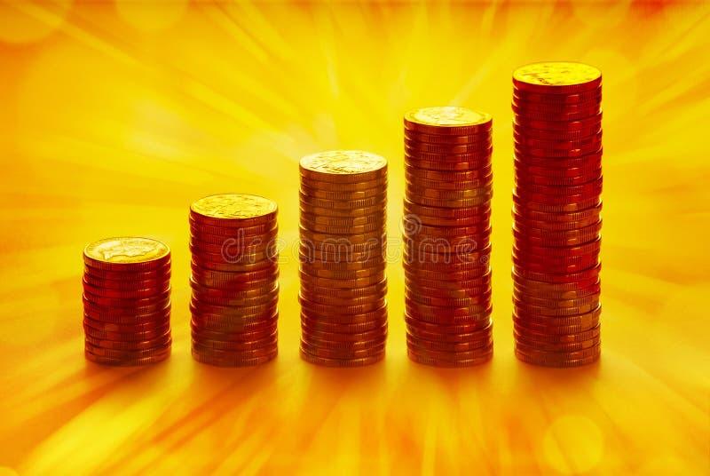 coins guld- buntar fotografering för bildbyråer