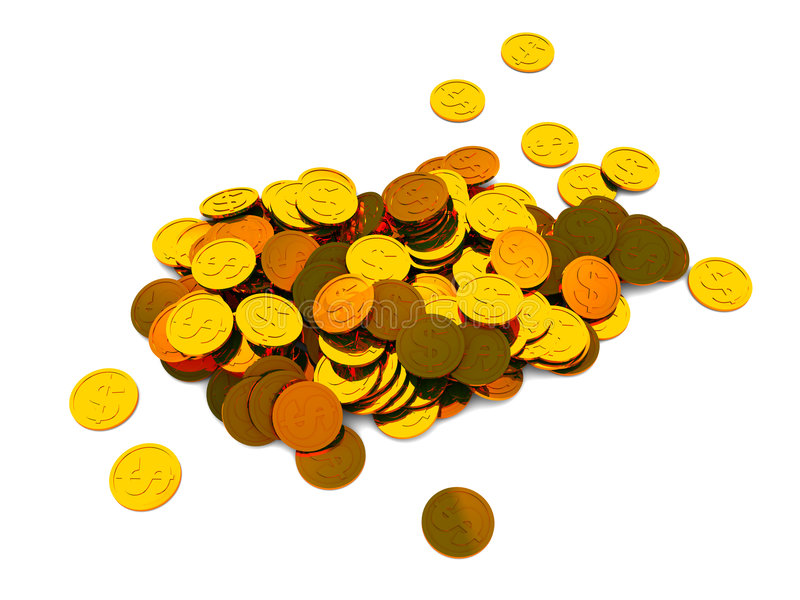 Download Coins heap stock illustration. Image of heap, rate, space - 9010511