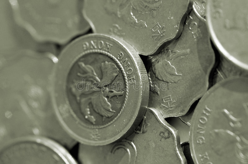 coins Hong Kong arkivfoto