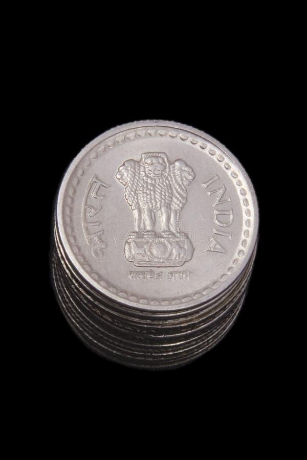 coins indier royaltyfri bild