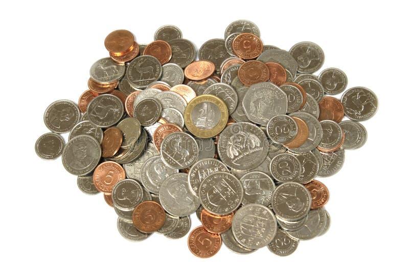 Coins of Mauritius stock photos