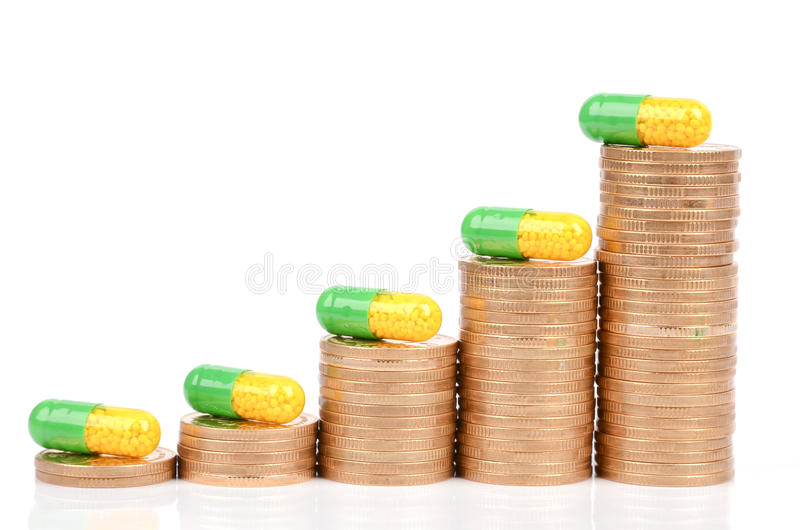 Download Coins and medicine stock image. Image of green, coins - 28561681
