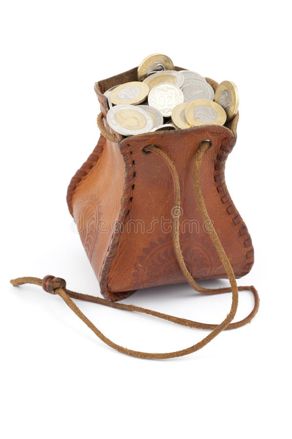 Download Coins in money-bag stock photo. Image of plenty, poland - 29607722