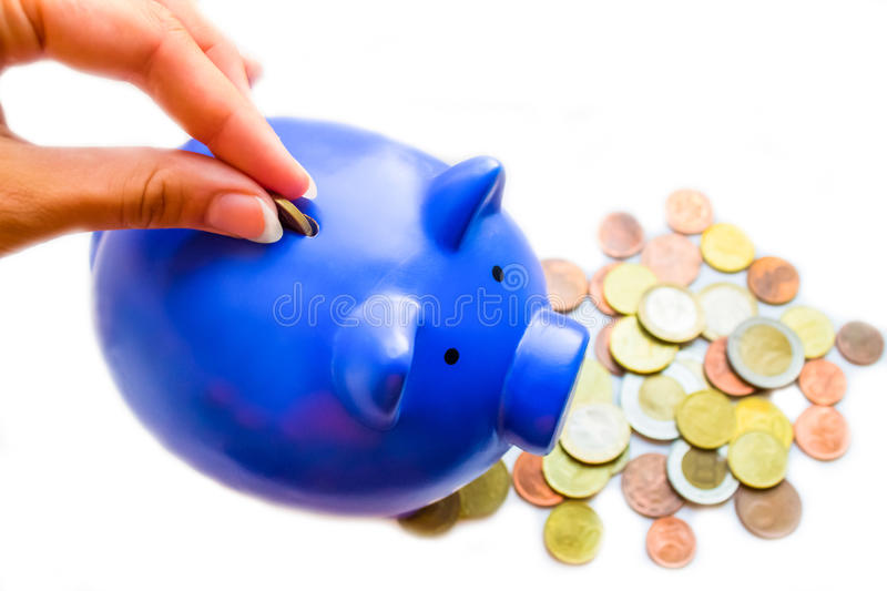 Coins And Moneybox Stock Photo
