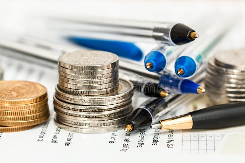 Coins And Pens Free Public Domain Cc0 Image