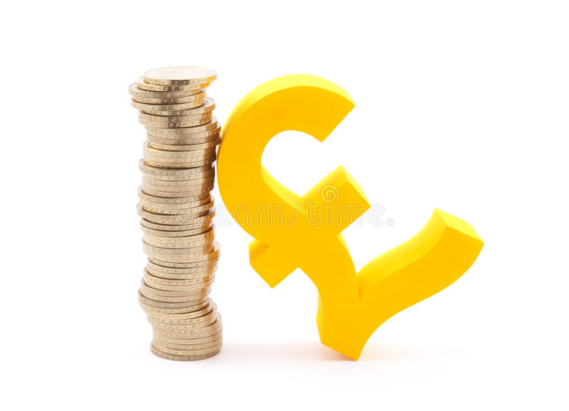 Download Coins And Pound Symbol Royalty Free Stock Photo - Image: 30346435