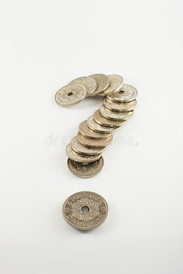 Download Coins question-mark stock photo. Image of dkkr, problems - 14589110