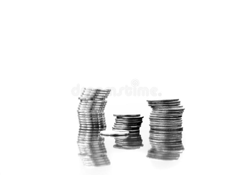 Download Coins Reflected stock image. Image of stacks, banking - 26795531