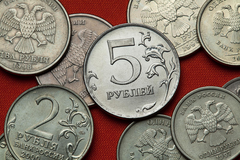 coins russia arkivfoton