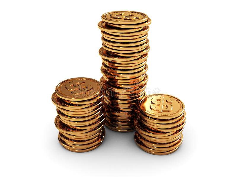 Coins stacks royalty free illustration