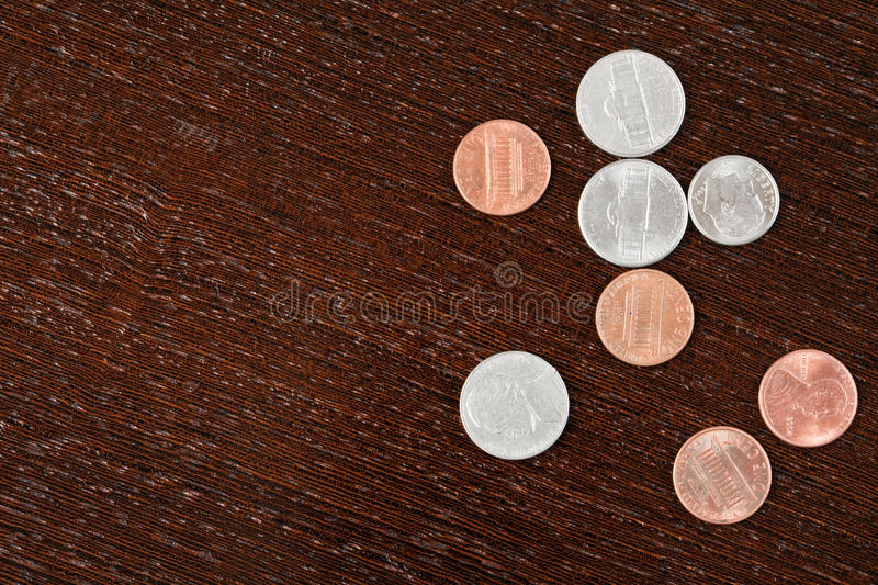 Download Coins on table stock illustration. Image of metal, money - 13836783