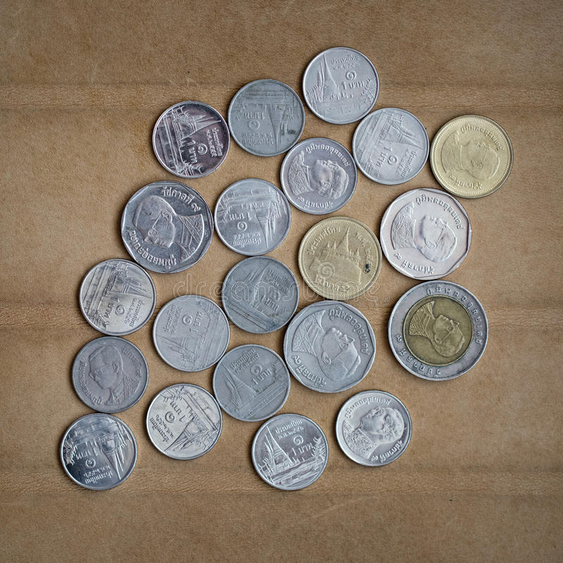Coins Of Thailand. Photo for you royalty free stock images