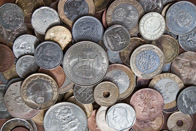 Coins underwates stock images