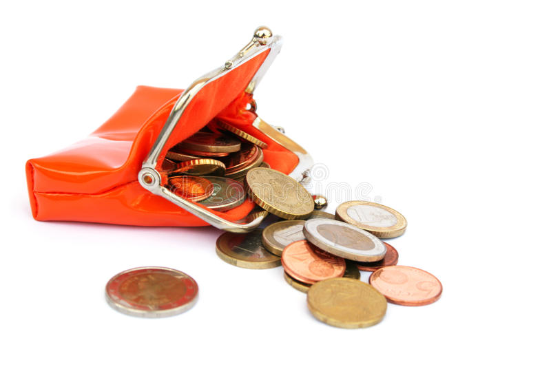 Download Coins in wallet stock image. Image of currency, funds - 16522123