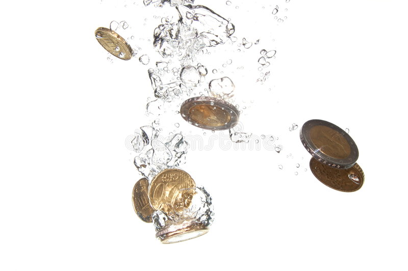 Download Coins in water stock image. Image of bubbles, bubble, coins - 7804837