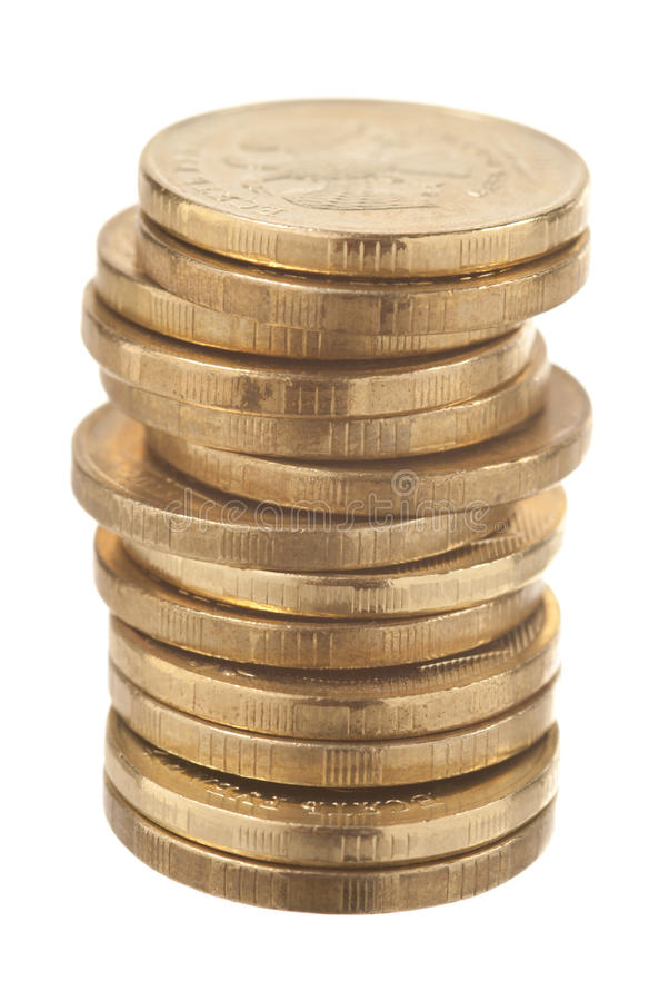 Download Coins on white stock image. Image of inflation, exchange - 22447671