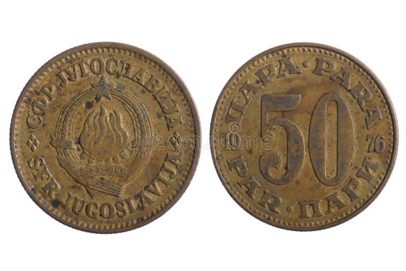 coins yugoslavia royaltyfria foton