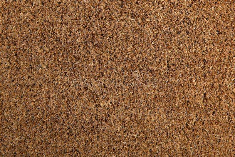 Coir-Fußmatten-Hintergrund-Beschaffenheit stockbild