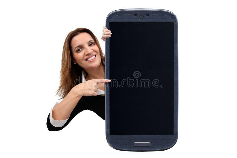 Coisa de surpresa de Smartphone imagem de stock royalty free