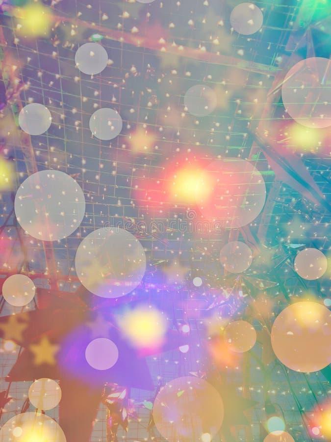 Coisa decorativa para feriados com sonhos vívidos para suas incríveis vibrações de fantasia Área externa, espaço de chegada Lâmpa imagem de stock