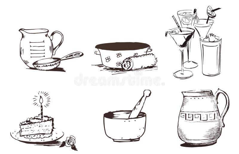 Coisas ilustração royalty free