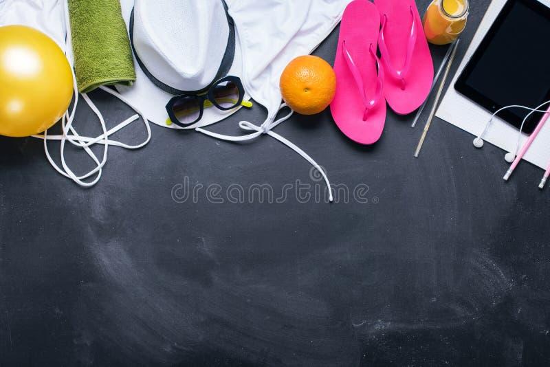 Coisas diferentes do verão do conceito do feriado do curso fotos de stock royalty free