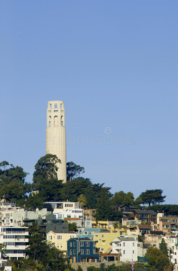 Download Coit Tower stock image. Image of park, telegraph, grid - 28834821