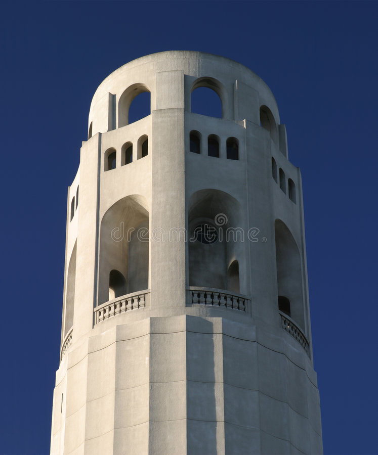 Coit Tower Detail royalty free stock photo
