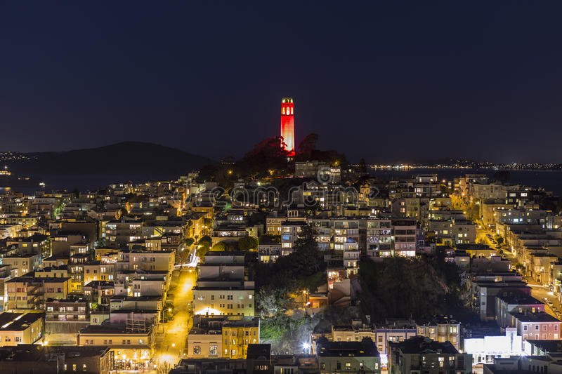 Download Coit Tower Night San Francisco Editorial Photo - Image: 28880941
