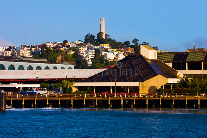Coit Tower in San Francisco royalty free stock images