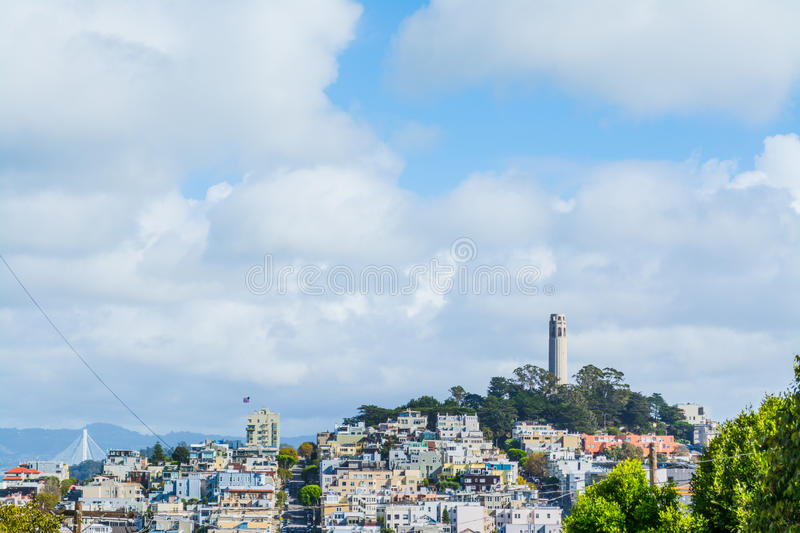 Coit Tower in Telegraph Hill. San Francisco stock images