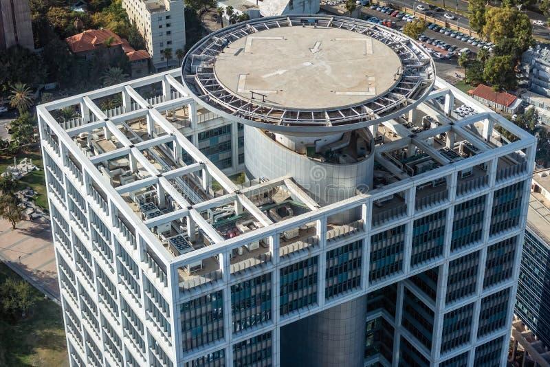 Cojín de aterrizaje del helicóptero en el edificio fotos de archivo libres de regalías