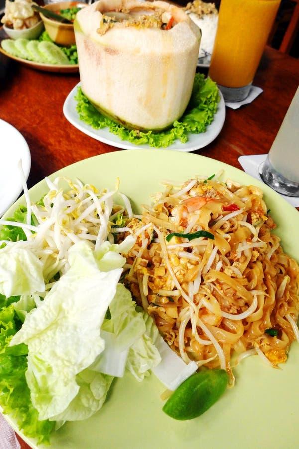 Cojín tailandés del plato de la comida tailandés imagen de archivo libre de regalías