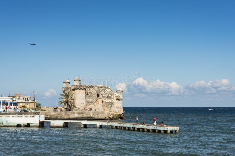 Cojimar堡垒古巴 库存图片