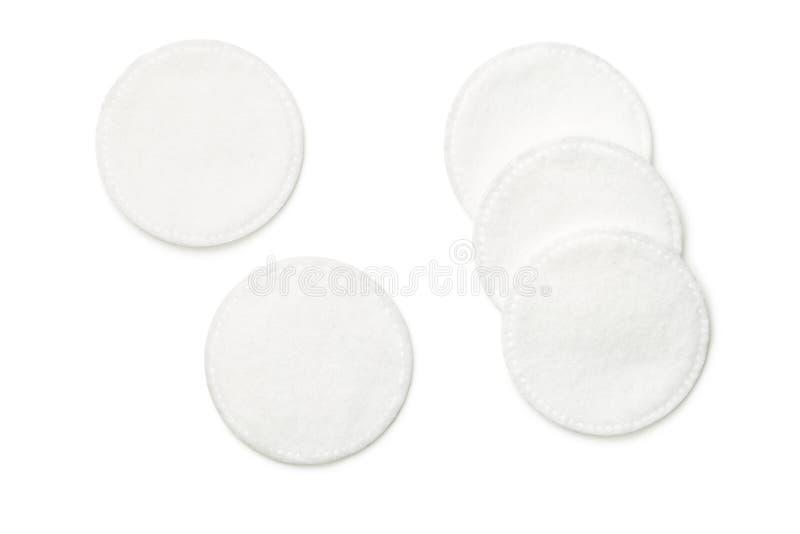 Cojines de algodón aislados en el fondo blanco fotos de archivo libres de regalías