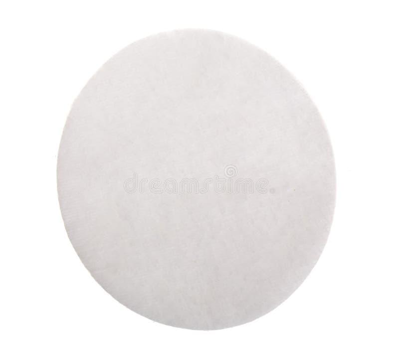 Cojines de algodón aislados en el fondo blanco Visión superior Endecha plana imagen de archivo