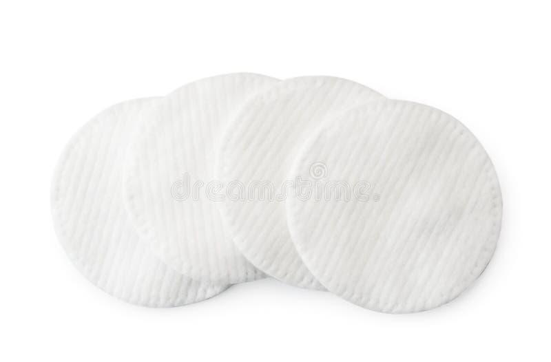 Cojines de algodón en un fondo blanco La forma del top fotografía de archivo