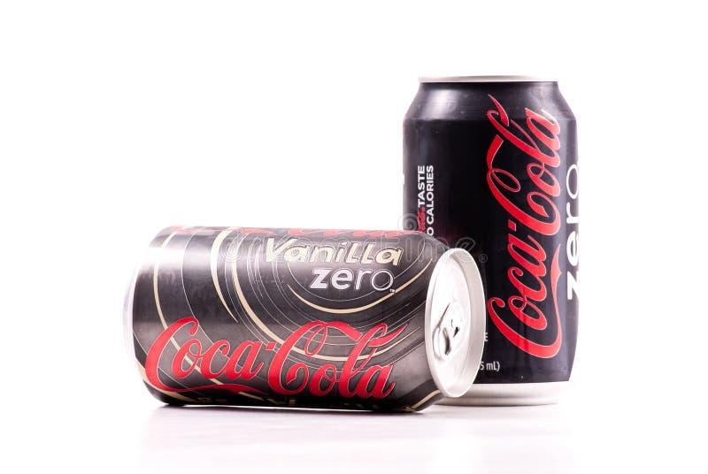 Coke della vaniglia zero cole fotografie stock libere da diritti