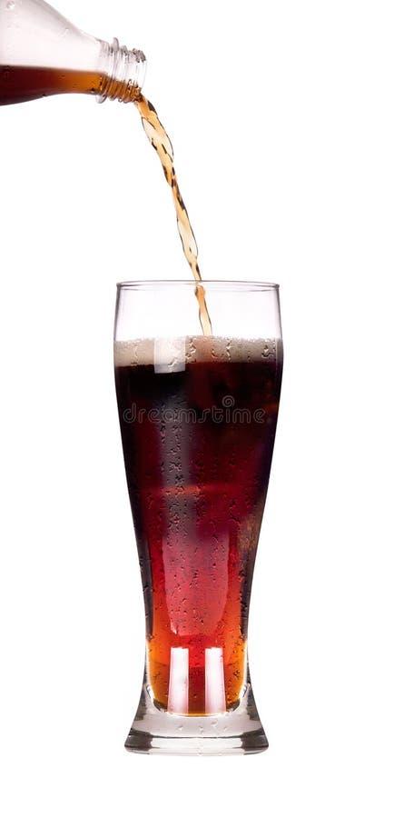 Coke frais d'isolement avec l'éclaboussure photographie stock libre de droits