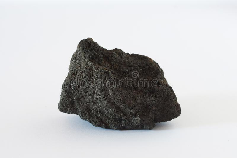 Coke mineral also coal on white background. Coke mineral on white background potentially for economic and fuel market prices news stock photography