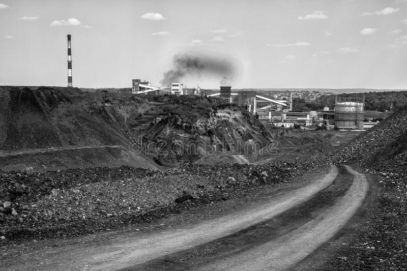 Cokerie de charbon images libres de droits