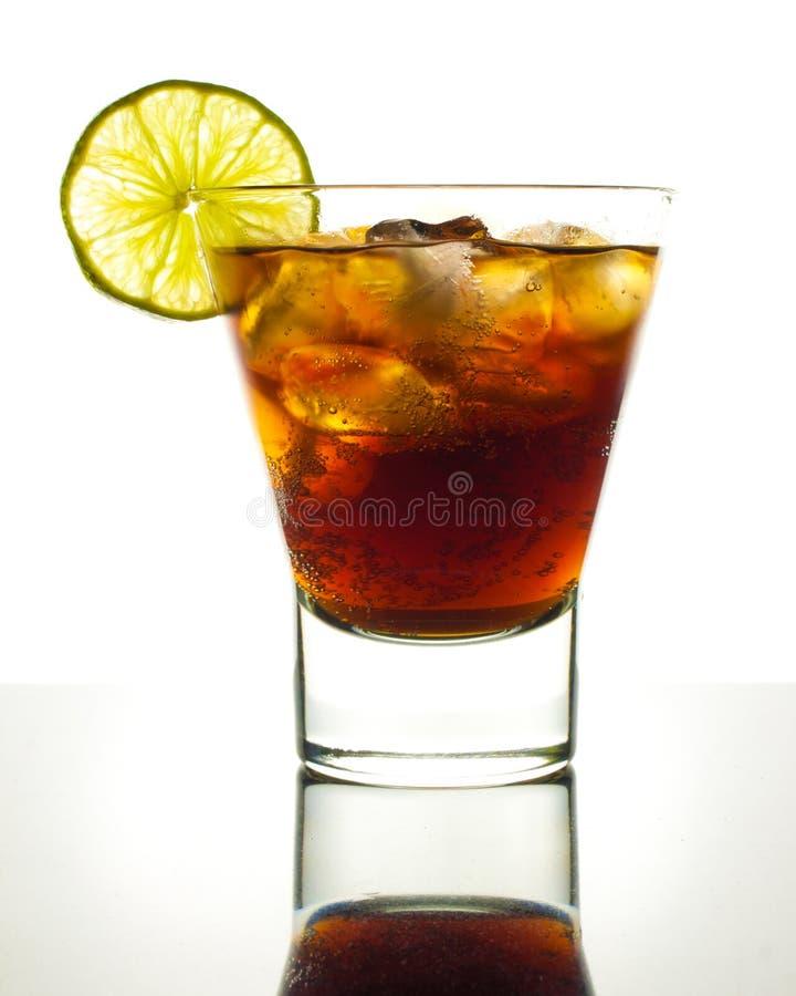 Cokes met kalk royalty-vrije stock foto