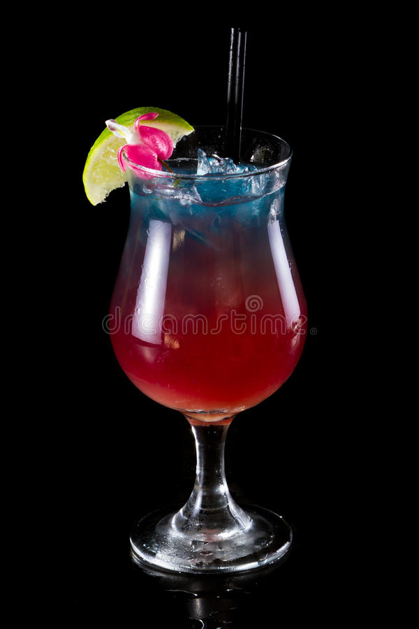 Coktail för fruktsaft för tropisk frukt fotografering för bildbyråer
